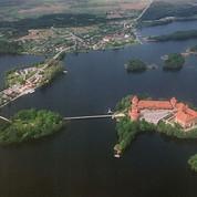 Trakai castle from birds' eye