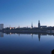Riga view across the river Daugava